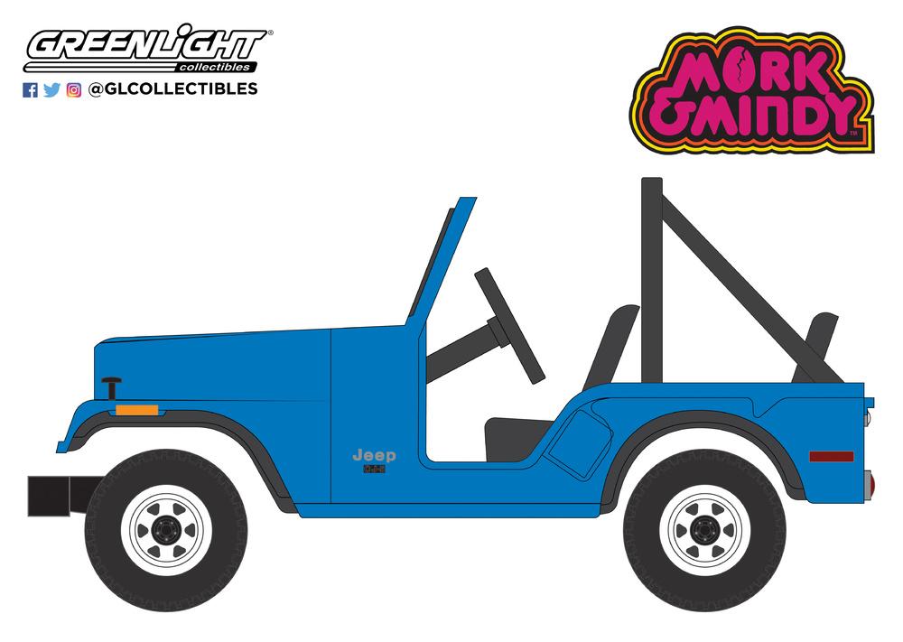 44830A Mork & Mindy (1978-82 TV Series) - 1972 Jeep CJ-5