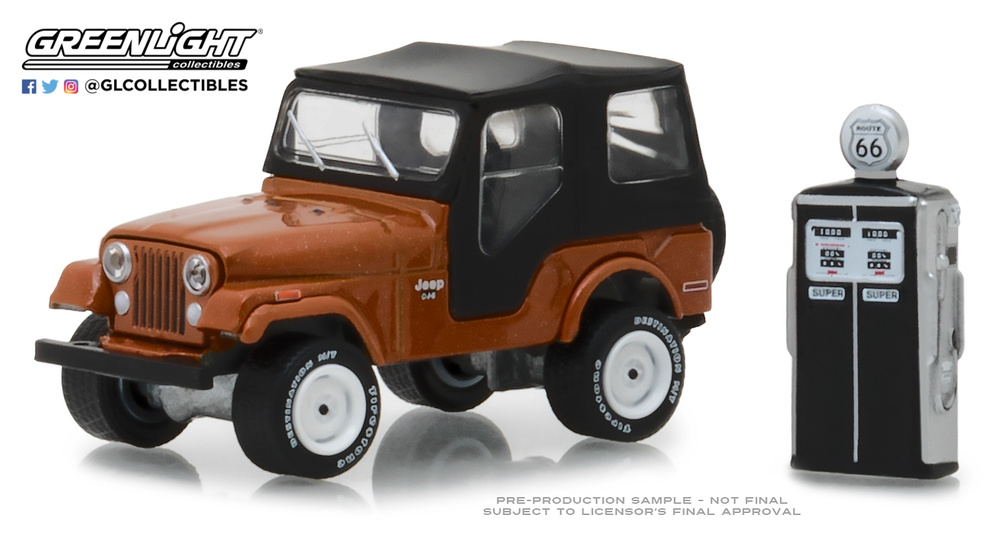 Jeep CJ-5 con surtidor antiguo (1974) Greenlight 97050D 1/64