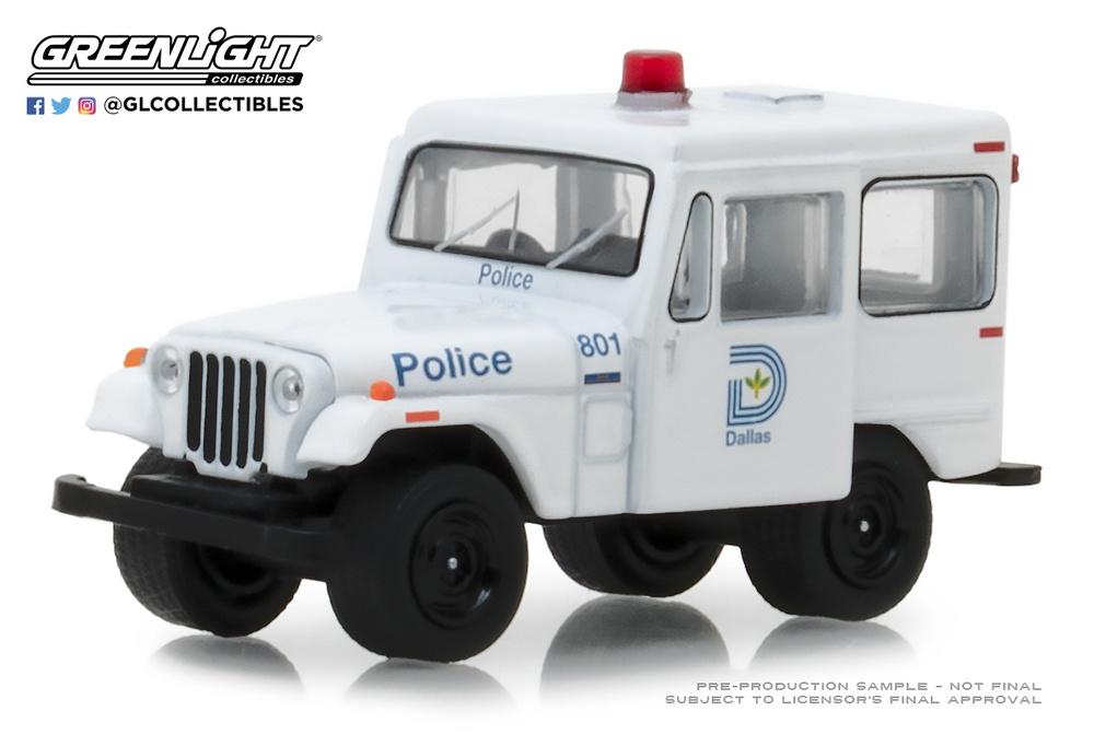 Jeep DJ-5 Policia de Texas - Dallas (1977) 42860B Greenlight 1/64