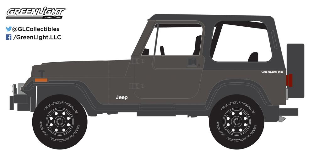 Jeep Wrangler (1990) Greenlight 35090D 1/64
