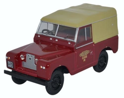 Land Rover Series II SWB Canvas British Railways (1958) Oxford 43LR2S002 1/43
