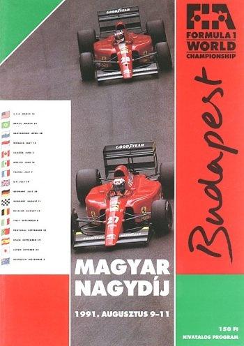 Poster del GP. F1 de Hungría de 1991