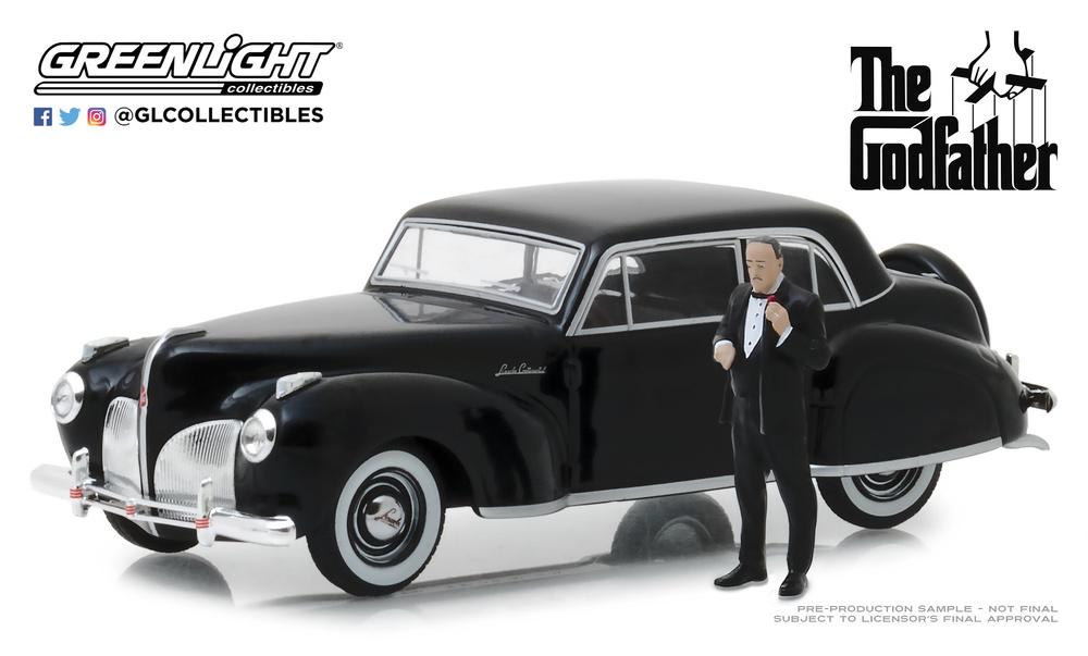 Lincoln Continental con Figura de Don Corleone (1941) Greenlight 86552 1/43