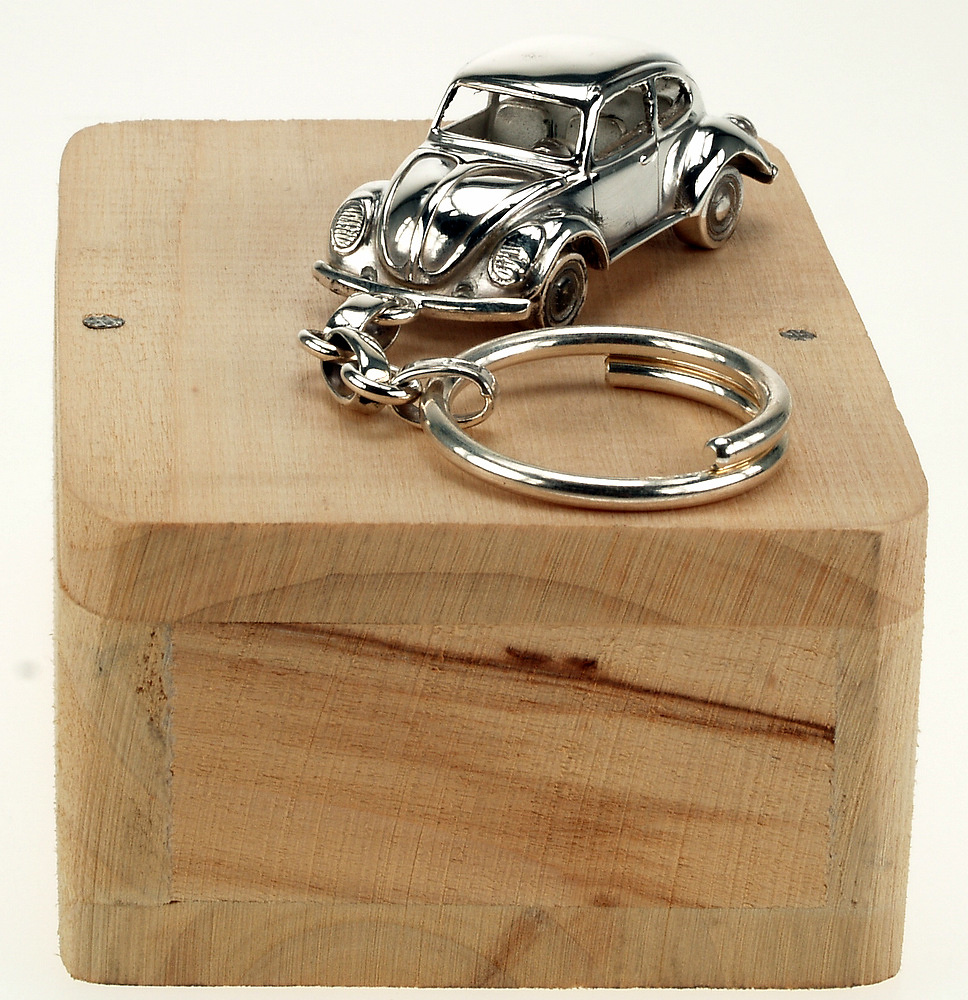 Llavero Volkswagen Escarabajo Plata de 1ª Ley Minicar 003