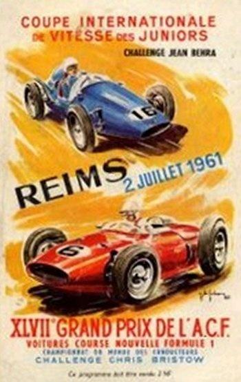 Poster del GP. F1 de Francia de 1961