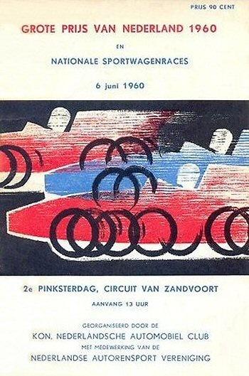 Poster GP. F1 Holanda 1960