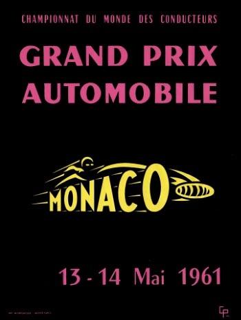 Poster GP. F1 Mónaco de 1961