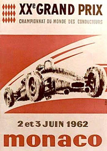 Poster del GP. F1 de Mónaco de 1962