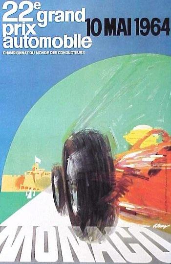 Poster del GP. F1 de Mónaco de 1964