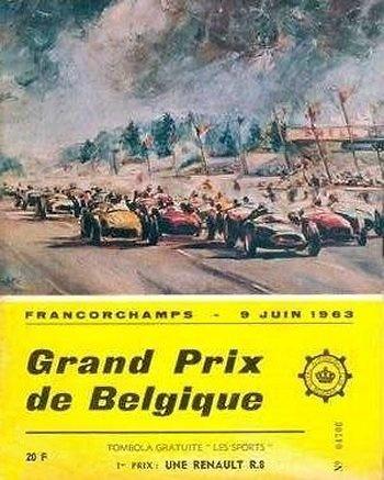 Poster del GP. F1 de Bélgica de 1963