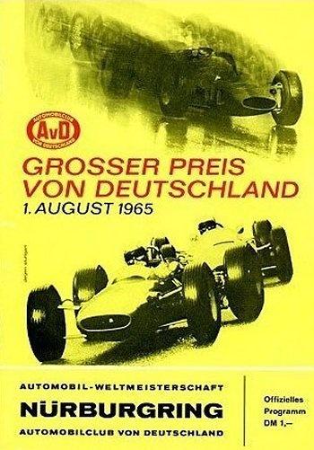 Poster del GP. F1 de Alemania de 1965