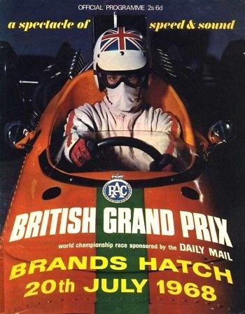 Poster del GP. F1 de Gran Bretaña de 1968