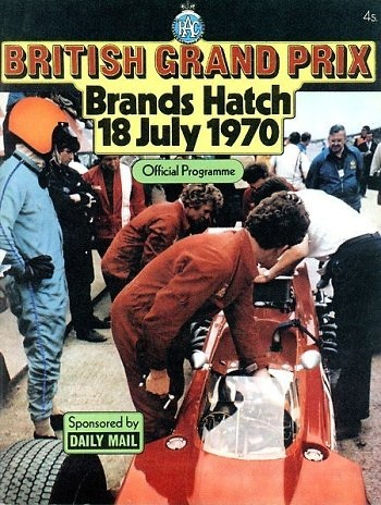 Poster del GP. F1 de Gran Bretaña de 1970
