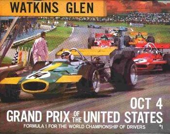 Poster del GP. de USA de 1970