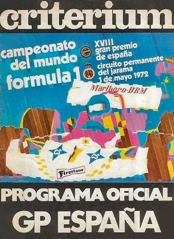 Poster GP. F1 España 1972