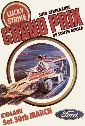 Poster del GP. F1 de Sudáfrica de 1974