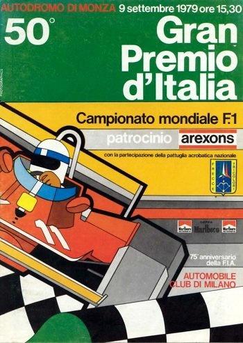 Poster del GP.F1 de Italia de 1979