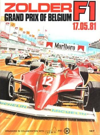 Poster del GP. F1 de Bélgica de 1981