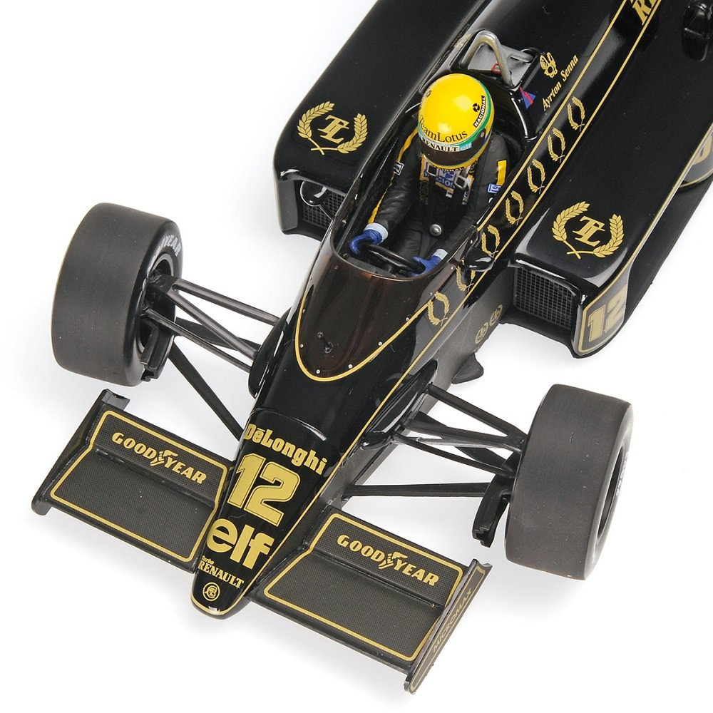 Lotus 98T nº 12 Ayrton Senna (1986) Minichamps 540861812 1/18