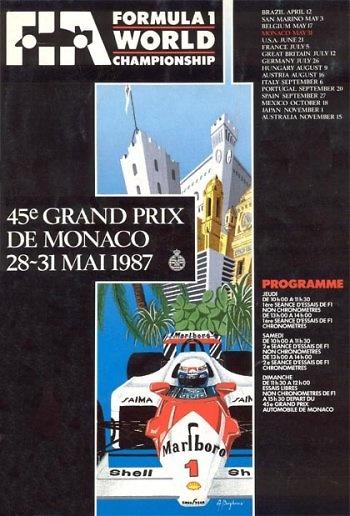 Poster del GP. F1 de Mónaco de 1987