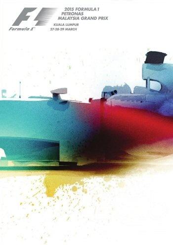 Poster del GP. F1 de Malasia de 2015