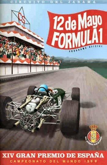 Poster del GP. F1 de España de 1968
