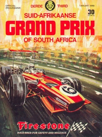 Poster del GP. F1 de Sudáfrica de 1969