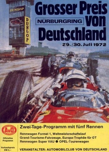 Poster GP. F1 Alemania 1972