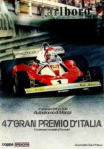 Poster del GP. F1 de Italia de 1976