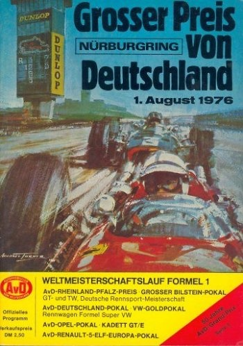 Poster GP. F1 Alemania 1976
