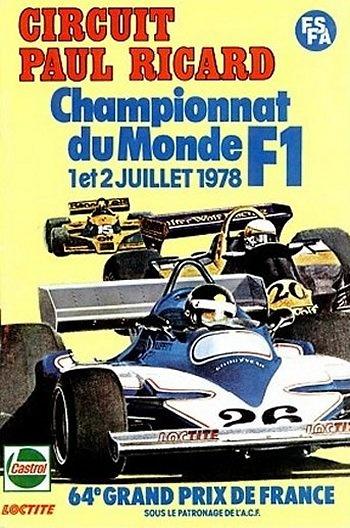 Poster GP. F1 Francia 1978