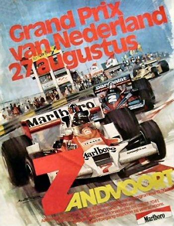 Poster GP. F1 Holanda de 1978