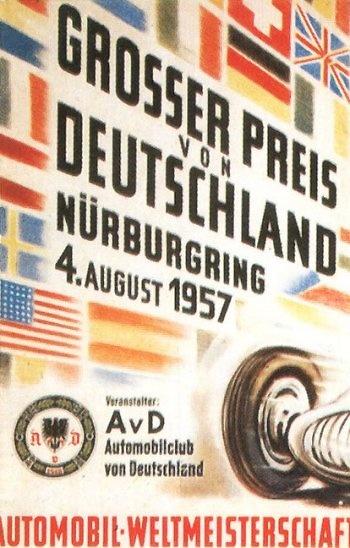 Poster del GP. F1 de Alemania de 1957