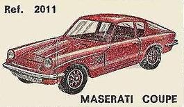 Maserati Coupé (Mistral) Nacoral 2011 1/43