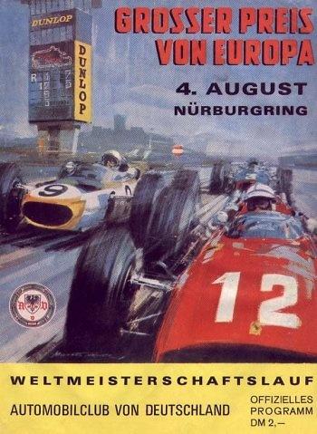 Poster del GP. f1 de Alemania de 1968