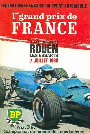Poster del GP. F1 de Francia de 1968