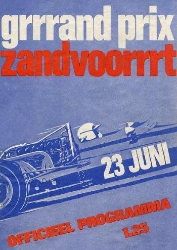Poster GP. Holanda de 1968