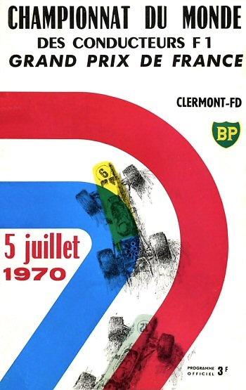 Poster del GP. F1 de Francia de 1970