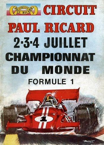 Poster del GP. F1 de Francia de 1971
