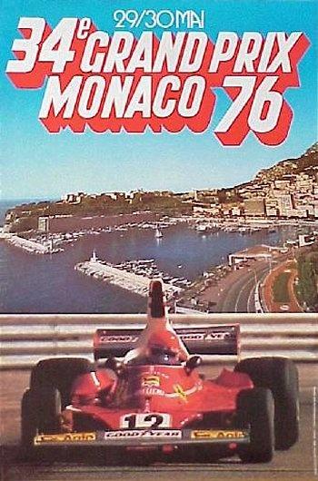 Póster del GP. de Mónaco de 1976