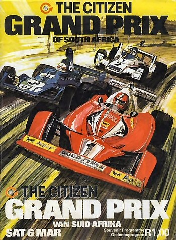 Poster del GP. F1 de Sudáfrica de 1976