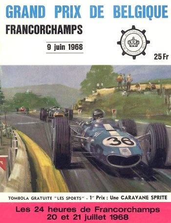 Poster del GP. F1 de Bélgica de 1968