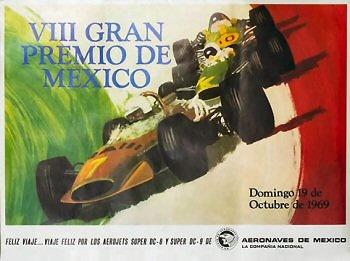 Poster GP. F1 México 1969