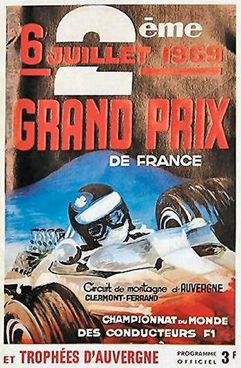 Poster del GP. F1 de Francia de 1969