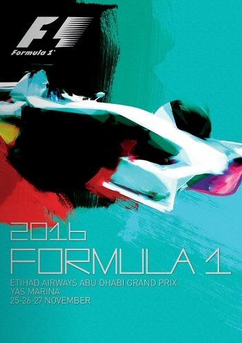 Poster del GP. de F1 de Abu Dhabi de 2016