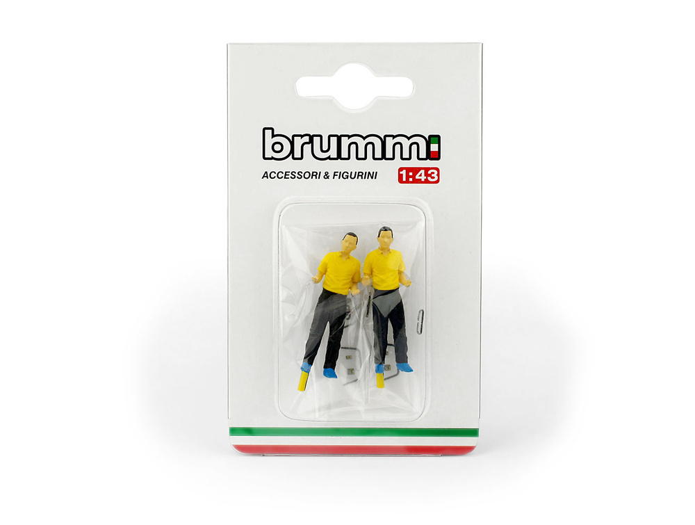Mecánicos Ferrari -2 figuras- (1981) Brumm P004F 1/43
