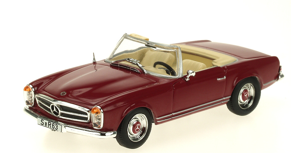 Mercedes Benz 230 SL Cabriolet -W113- (1963) White Box 186663 1:43