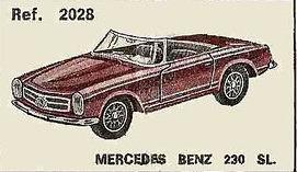 Mercedes 230 SL Nacoral 2028 1/43