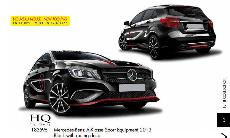 Mercedes Benz Clase A con equipo Sport -W176- (2013) Norev 183596 1:18