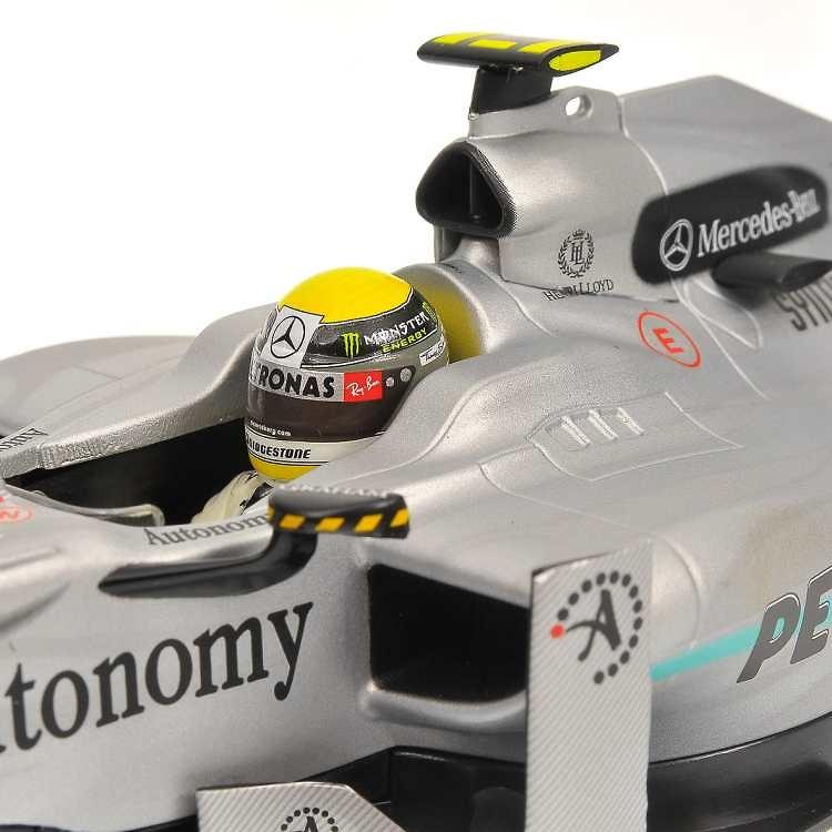 Mercedes W01 nº 4 Nico Rosberg (2010) Minichamps 110100004 1/18